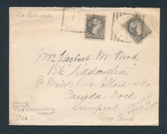 Canada #42 Cvr 1896 Double Weight Small Queen Cover To U.K. Carried By Pilot Tender At Rimouski,... - 1851-1902 Reign Of Victoria
