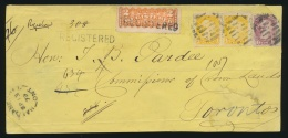 Canada #35, 40, F1 Cvr 1879 Quadruple Rate Registered Muskoka Cover, Mailed Haldane Hill Ont... - 1851-1902 Reign Of Victoria