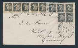 Canada #34 Cvr 1891 5c U.P.U. Rate Cover To Germany, Franked With A Strip Of 5, A Pair And 3... - 1851-1902 Reign Of Victoria