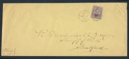 Canada #17b Cvr 1861 Belleville To Stratford, Mailed At Belleville C.W (Berri Duplex Dated... - 1851-1902 Reign Of Victoria