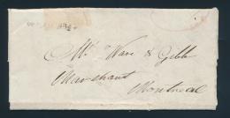 Cvr Weak But Legible 1826 STEAM BOAT Straight Line Handstamp In Italics,. On Folded Letter... - Publishers