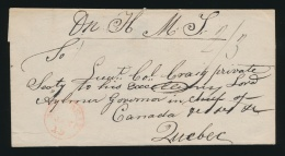Cvr 1833 Montreal O.H.M.S. To Québec City Folded Letter, Without Contents, But Docketed... - Publishers