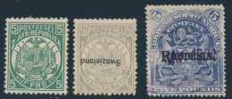 British Africa  O/* Group Of Three Forgeries, With Transvaal #135 Mint, Swaziland #1a Inverted... - Cinderellas