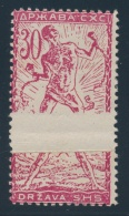 Yugoslavia #3L11, 3L15 * 1919 10f Red And 30f Carmine Chain Breaker With Paper Folds. 10f Pair,... - Cinderellas