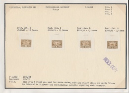 E/P 1955-59 Set Of Professional Accident Specimen Stamps And Die Proofs, Inscribed Republica De... - Venezuela