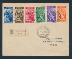 Vatican #41-46 Cvr 1935 Set On Registered Cover, Complete Set Of 6 On Cover Dated FEB.25.1935.... - Vatican