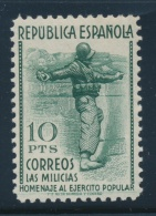 Spain #606-614 * 1938 5c To 10p Militia Set, Lightly Hinged, The 1.20p Has A Crease, Still Overall... - Spain