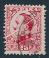 Spain #44, C52 O/* 1930 25c Carmine King Alfonso And 25c Ultra Airmail With Paper Folds. Nice Pair... - Spain