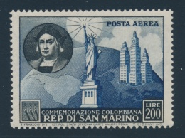 San Marino #308-319, C80 ** 1952 Christopher Columbus, Set Of 13, Mint Never Hinged, Fine-very... - Unclassified