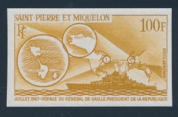 St. Pierre & Miquelon #C35-C36 E/P Set Of Two Imperforate Trial Colour Proofs, On Stamp Paper,... - Unclassified