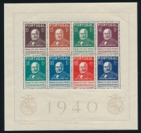 Portugal #602a ** 1940 Sir Rowland Hill Souvenir Sheet Of Eight, Mint Never Hinged, Very Fine.... - Portugal