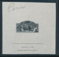 Peru #210/218 E/P 1918 Set Of Five Different ABN Die Proofs, Identified As Being Prepared For... - Peru