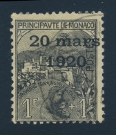 Monaco #B9-B17 O 1920 Surcharge And Overprint Set, Used, Mostly With Clean C.d.s. Cancels, Overall... - Monaco