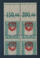 Lithuania #60var ** 1919 5auk White Knight Vytis With Dramatic Varieties, Upper Marginal Mint... - Lithuania