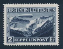 Liechtenstein #C7-C8 * 1931 1fr-2fr Zeppelin Airmail Set, Mint Lightly Hinged, Very Fine. Scott... - Liechtenstein