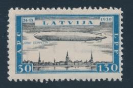 Latvia #CB21-CB24 ** 1933 8s To 40s Airplanes And Zeppelins, Watermark Swastika, Fresh, Fine-very... - Latvia
