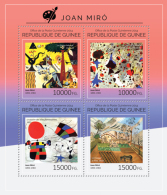 GUINEA 2014 - J. Miro, Donkey - YT 7438-41; CV = 25 €