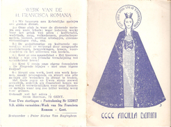Calendrier Kalender 1947 - Werk Van De H. Francisca Romana - Klein Formaat: 1941-60
