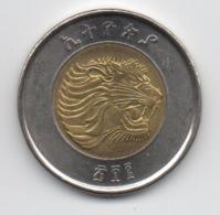 Ethiopie : 1 Birr : Lion / Balance : BIMETAL UNC Ou Presque - Ethiopia