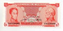 Venezuela -  1989 - Banconota Da 5 Bolivares - Nuova -  (FDC597) - Venezuela