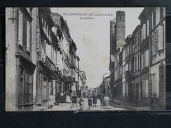 Z15 - 31 - Villefranche De Lauragais - Grand'Rue - Animée - 1909 - Autres Communes