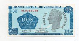 Venezuela -  1989 - Banconota Da 2 Bolivares - Nuova -  (FDC598) - Venezuela
