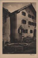 Guarda - Heimat - Altes Bündnerhaus Mit Brunnen - Photo: D. Mischol No. 25/1433 - GR Grisons