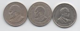 Kenya : Lot De 3 Pièces 1 Shilling 1968 - 1969 - 1994 - Kenya