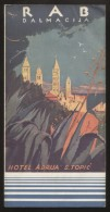 "CROATIA RAB - HOTEL ""ADRIJA"" GUIDE TOURIST BROCHURE 1934 - Dépliants Touristiques"