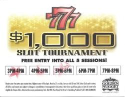 Golden Nugget Casino - Atlantic City, NJ - $1,000 Slot Tournament Entry Ticket - Casino Cards