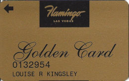 Flamingo Casino Las Vegas, NV - Slot Card - Golden Card - Printed Player Info - Casino Cards