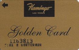 Flamingo Casino Las Vegas, NV - Slot Card - Golden Card - Embossed Player Info - Casino Cards