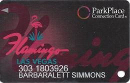 Flamingo Casino Las Vegas, NV - Slot Card - Park Place - No Mfg Mark Over Mag - Casino Cards