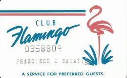 Flamingo Hilton Casino Reno, NV - Slot Card - No Insert Arrows - No Mfg Mark On Back - Casino Cards