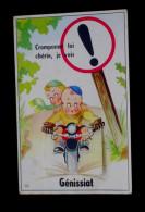 01 - GENISSIAT - CARTE AVEC  10 VUES - CRAMPONNE TOI CHERIE JE VOIS GENISSIAT....  MOTO  .. - Génissiat