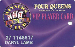 Four Queens Casino Las Vegas, NV -  Slot Card - ACC / No Sig Strip - Casino Cards