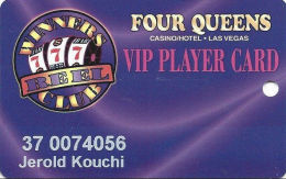 Four Queens Casino Las Vegas, NV -  Slot Card - ACC With Signature Strip On Reverse - Casino Cards