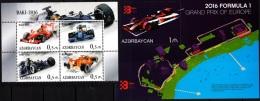 AZERBAIJAN 2016-08 Formula-1 Car Races. Grad Prix Of Europe., MNH - Cars