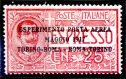 Italia-F01630 - 1917: Posta Aerea, Sassone N. 1 (++) MNH - Privo Di Difetti Occulti. - Posta Aerea
