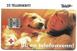 @+ Norvège - Croix Rouge Et Chien (50 000ex - 07/94) - Ref : N-34A - Norvège