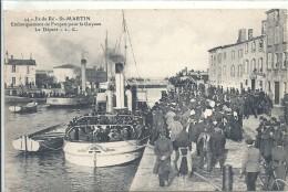 CHARENTE MARITIME - 17 - ILE DE RE - SAINT MARTIN - Embarquement Des Forçats Pour La Guyane- Le Départ - Bagne & Bagnards