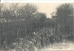 CHARENTE MARITIME - 17 - ILE DE RE - SAINT MARTIN - Embarquement Des Forçats Pour La Guyane- Sortie Du Bagne - Bagne & Bagnards