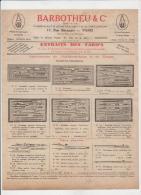 BARBOTHEU PARIS 17 RUE BERANGER FABRICANT D´INSTRUMENTS DE PRECISION - 1900 – 1949