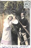 [DC3269] CPA - COPPIE - PER RACCOGLIERE LE CIGLIEGIE - Viaggiata 1903 - Old Postcard - Coppie