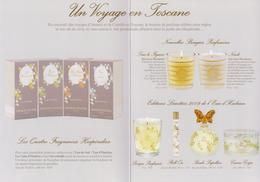 Carte Parfumées Carte  ANNICK GOUTAL DOUBLE RECTO VERSO   VOYAGE En TOSCANE   21 Cm X 15 Cm - Modern (from 1961)