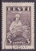ESTLAND / EESTI 1935 Schnitterin In Roggengarbe 3 Kr. Braun Michel 108 - Estonia