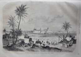 Une Vue De Tripoli (Afrique) - Page Original 1860 - Documenti Storici