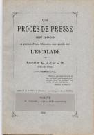 Procès De Presse En 1603 , A Propos D'unechanson Savoyarde L'Escalade - History
