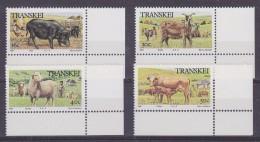 Transkei 1987 Domestic Animals / Cattle  4v (corner) ** Mnh (32186) - Transkei