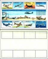 83711) Liberia-1994- 50° Ann. Derll'aereoporto Dimonrovia -serie In Foglietto Di 8 Val.  -nuovo-cat-12 Euro - Liberia